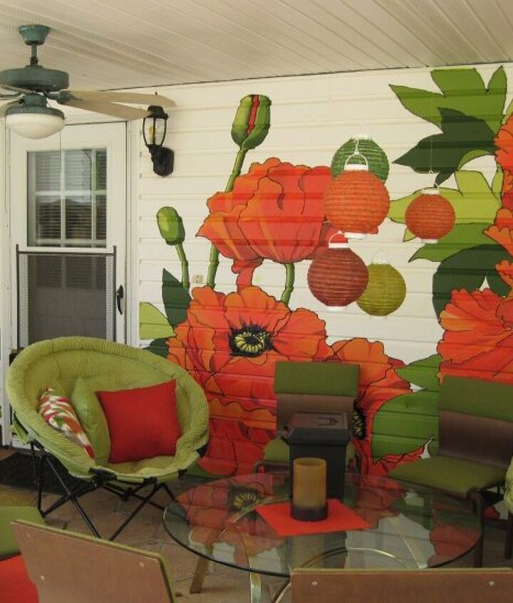 patio wall paint design
