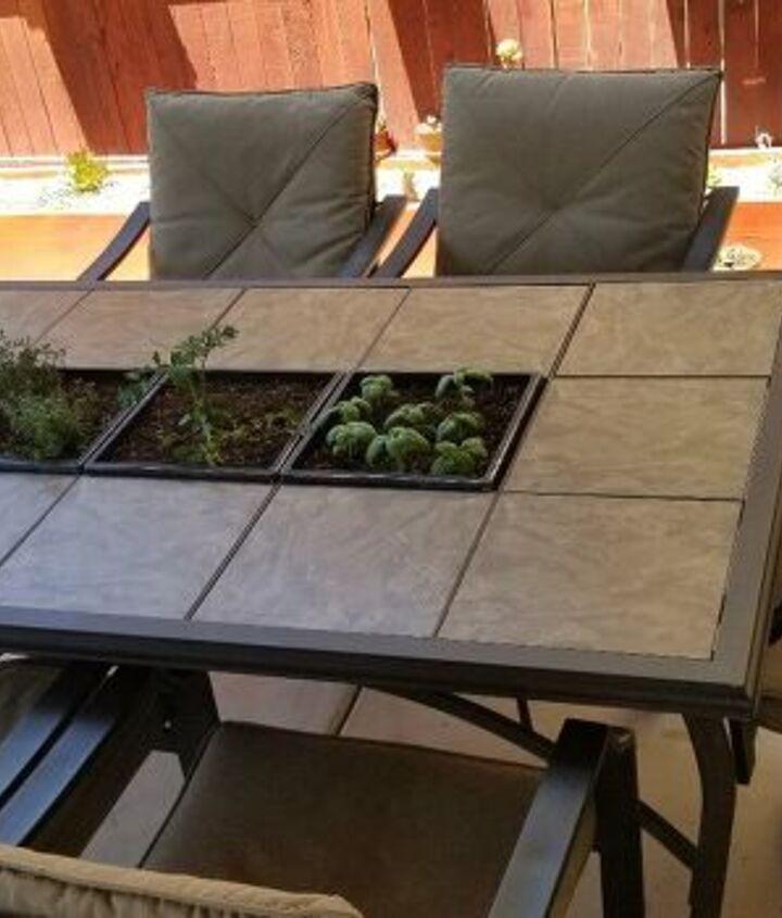 patio table garden idea