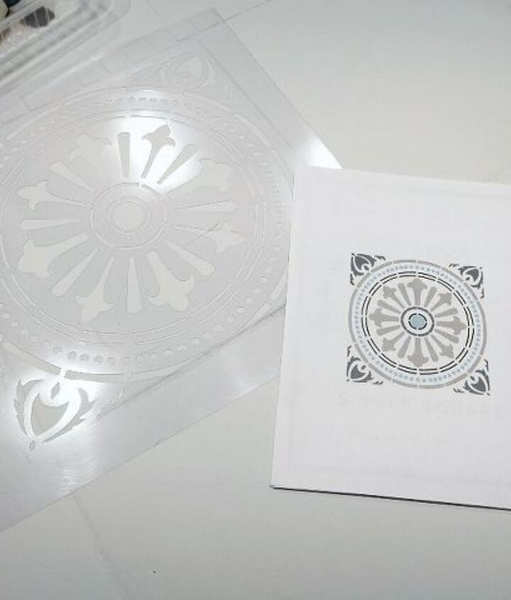 how to diy stencil paint a ceramic tile floor the cheap and easy way