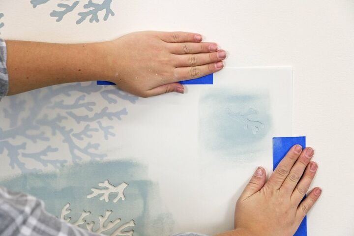 coastal inspired wallpapers hack using nautical stencils