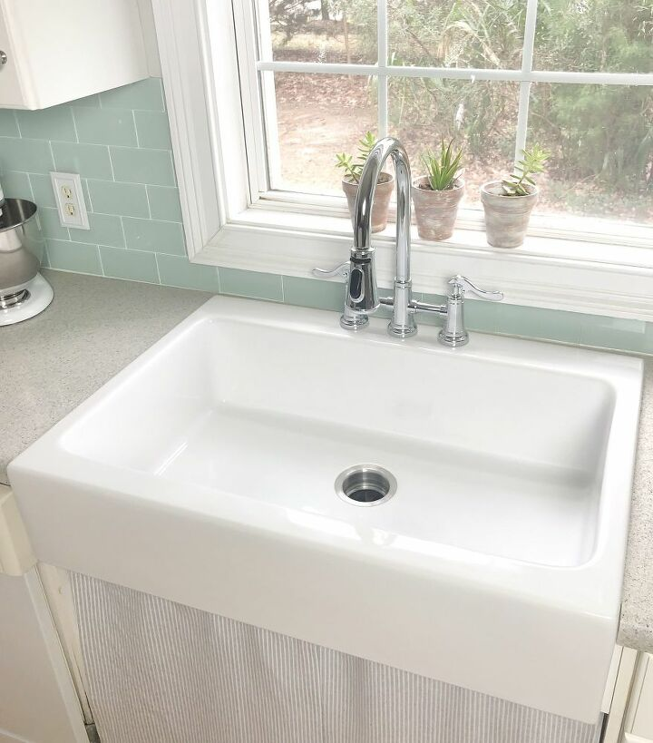 how to install a farmhouse drop in sink