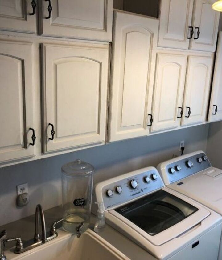 White cabinets moved to the opposite side