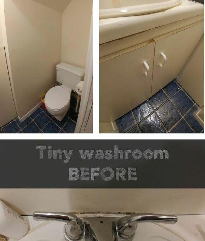 tiny washroom make over