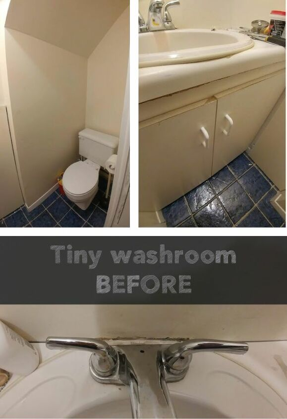 tiny washroom make over