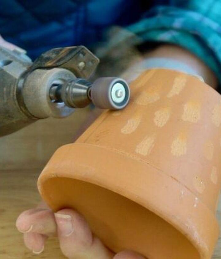 how to diy a faux concrete finish on terra cotta pots