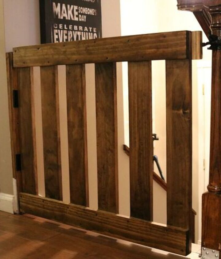 s diy baby gate, A Simple DIY Top of the Stairs Baby Gate