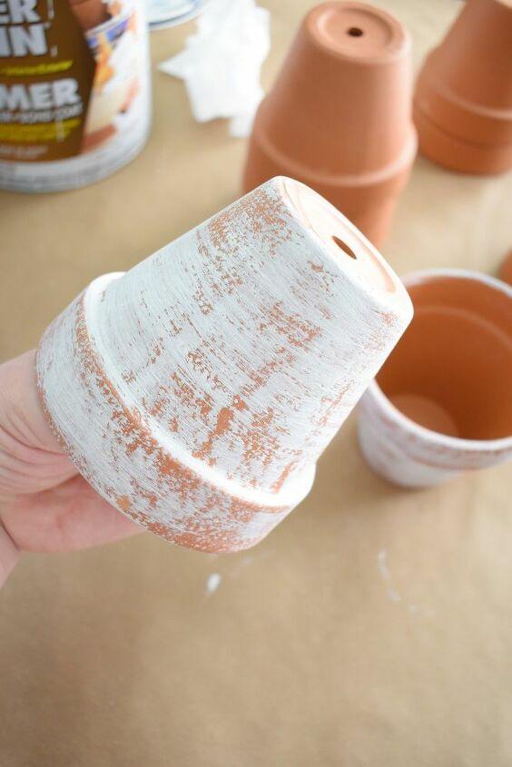 aged terracotta pots diy