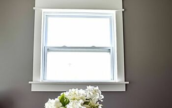DIY Fancy Window Trim the Lazy Girl Way
