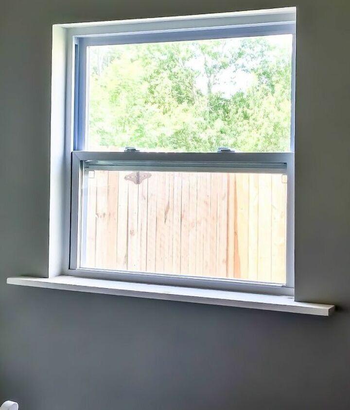 diy fancy window trim the lazy girl way
