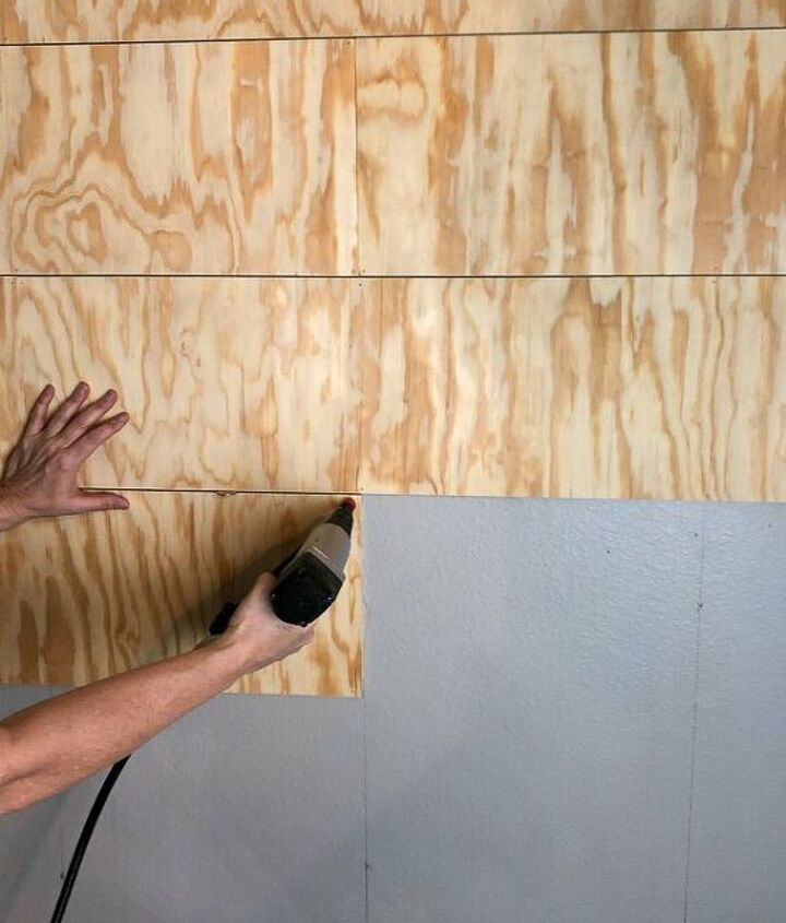 how to create an amazing faux shiplap wall