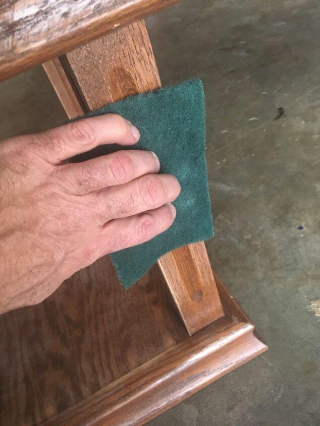 oak side table makeover