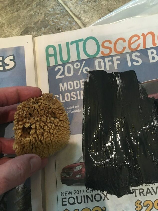 Don't overload the sponge with paint
