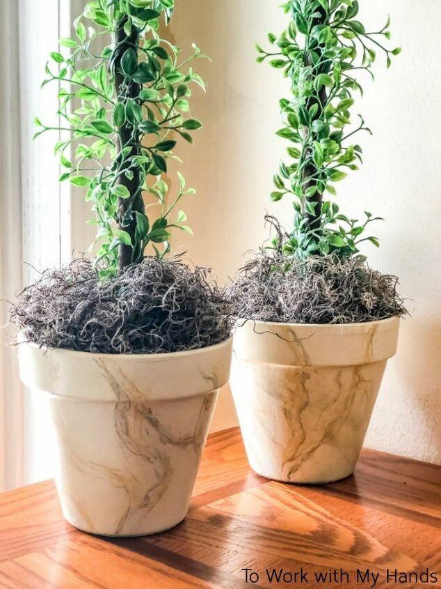 faux marble planters