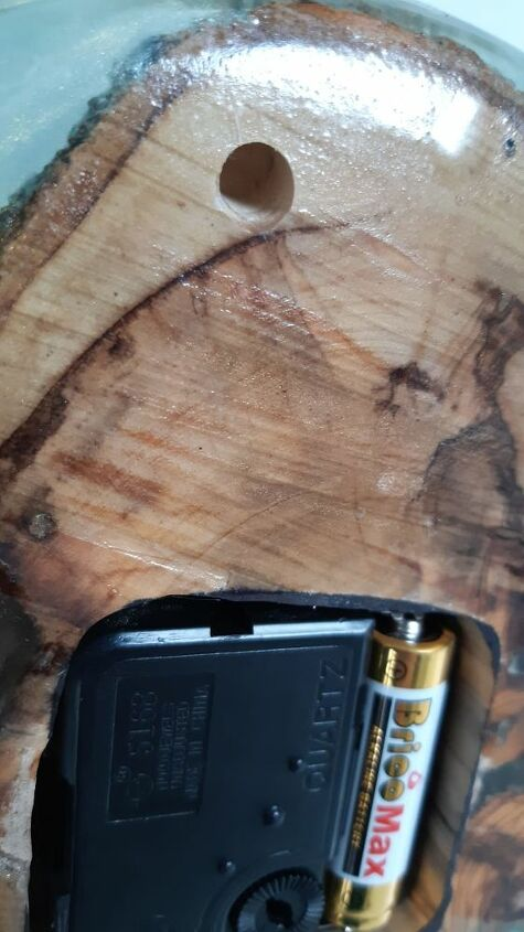 epoxy wood clock