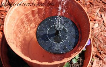 DIY Inexpensive Solar Fountain for the Garden