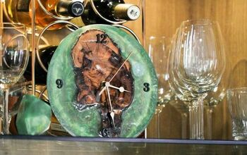 Epoxy & Wood Clock