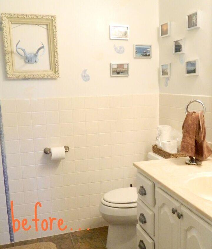 s clever bathroom tile ideas, A Lick of Paint