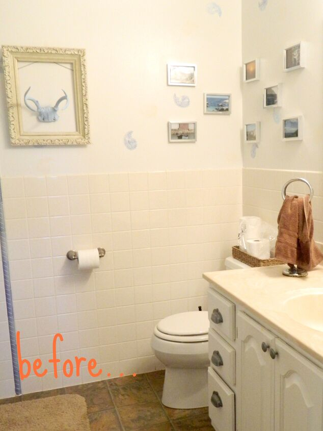 s clever bathroom tile ideas, A Lick of Paint