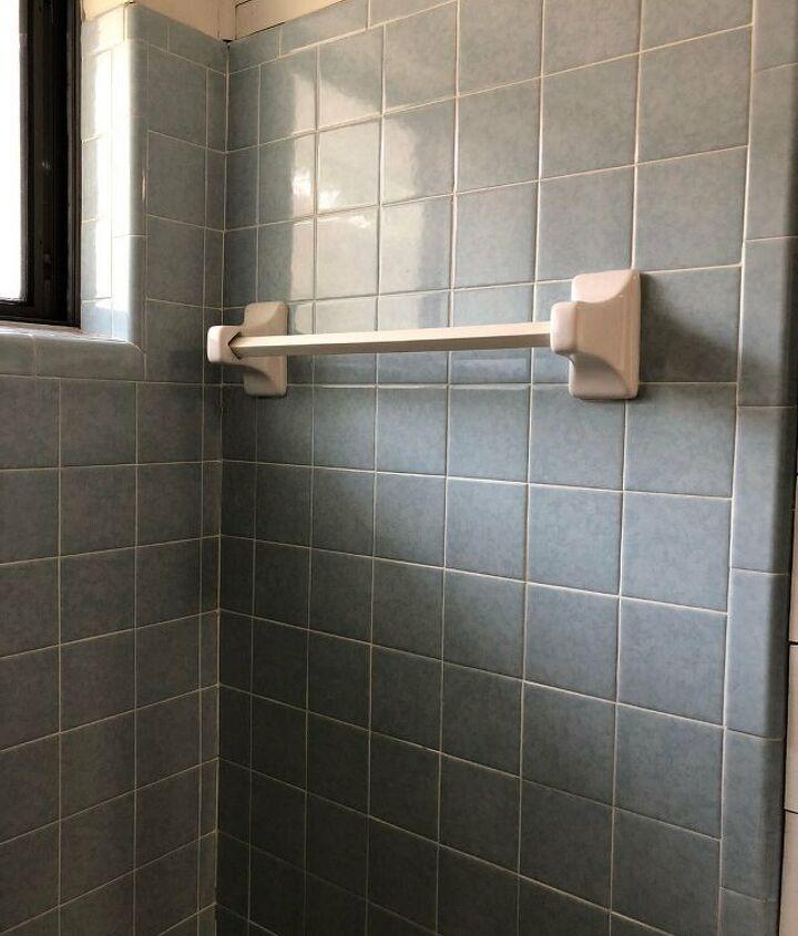 s clever bathroom tile ideas, A Shower of Paint