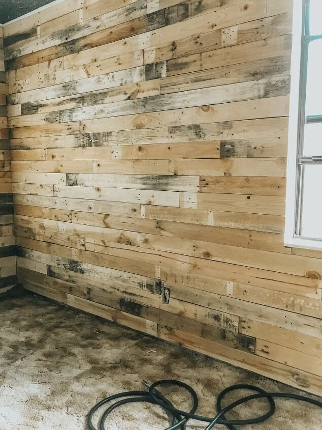 diy pallet wall in the man cave