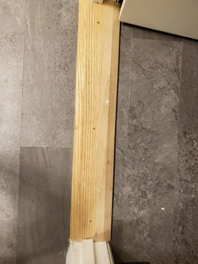 q how do finish this oak threshold to blend with the floor