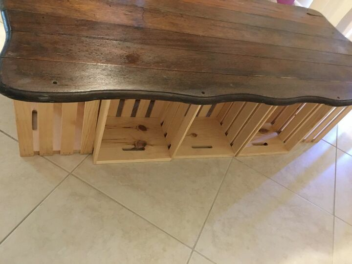 design your own wood crate coffee table for under 150