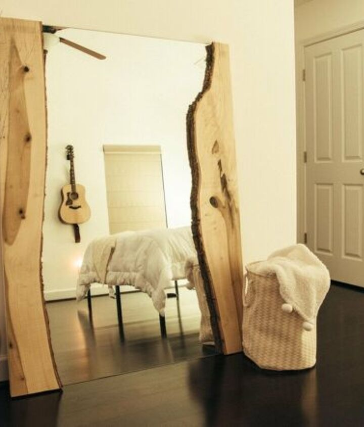 s 14 trendy wall decor ideas for 2019, How to Add Live Edge to a Mirror