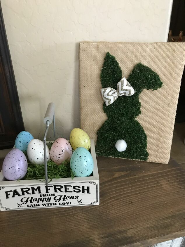 s use scrap fabric to update your furniture and your home, Make some pretty Easter decor