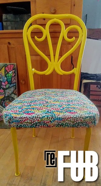 s use scrap fabric to update your furniture and your home, Update your kitchen chairs
