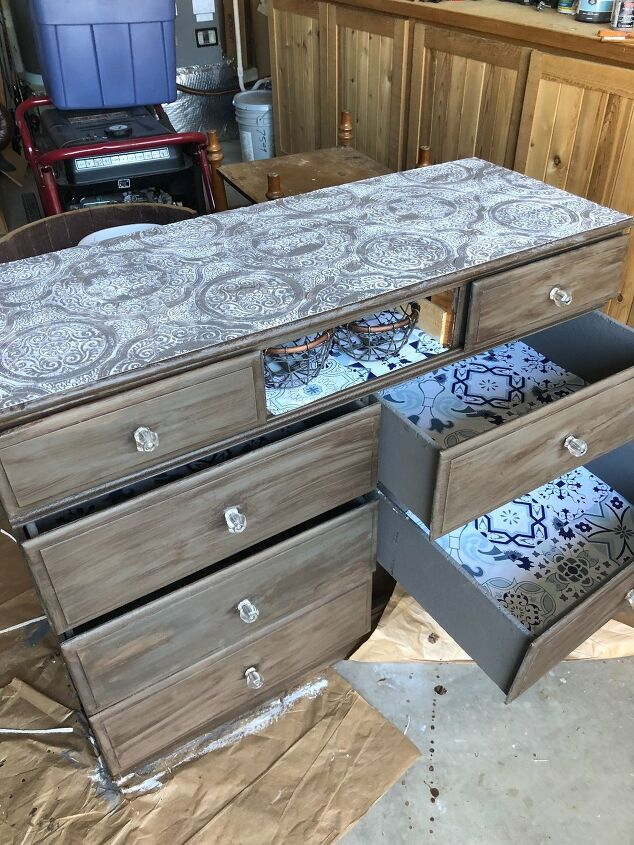 s use paper on your furniture for these great updates, Line the drawers of your dresser