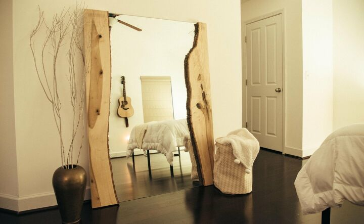 s get in on the live edge trend, How to Add Live Edge to a Mirror