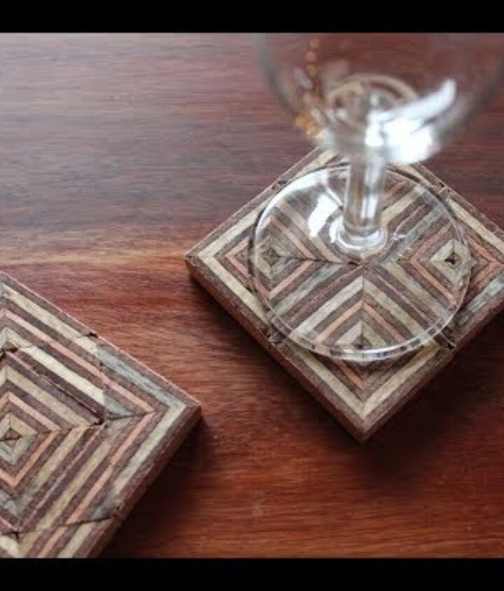 s 12 ways to keep coffee rings off of your furniture, Coasters Made Out of scrap Plywood