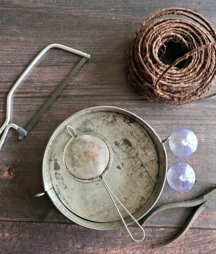 how to make a cute cake pan window bird feeder