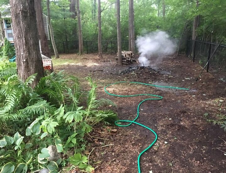 q solutions for standing water drainage and possible fire pit area