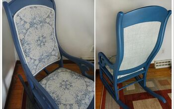 Rocking Chair Makeover: Chalked Paint and Upholstery