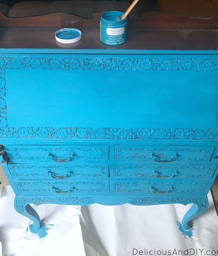 campaign chest table makeover