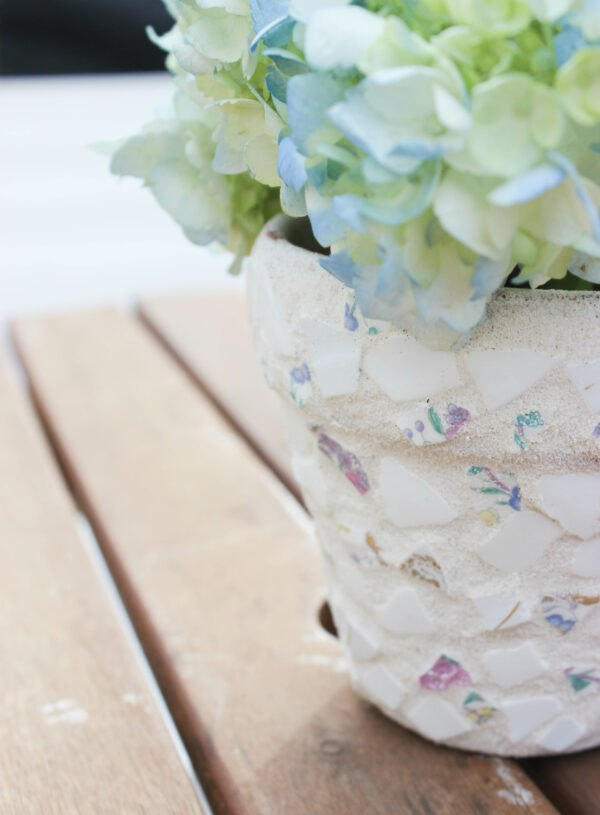 how to make a mosaic garden pot