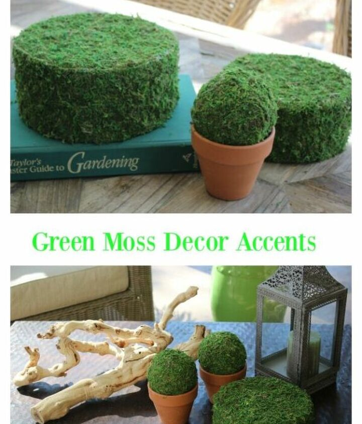 how to make green moss decor accents