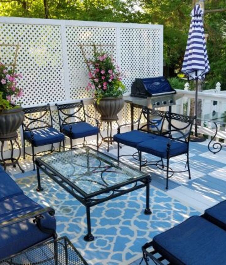 s 18 projects to prepare your outdoor space for summer, Stencil your deck to perfection