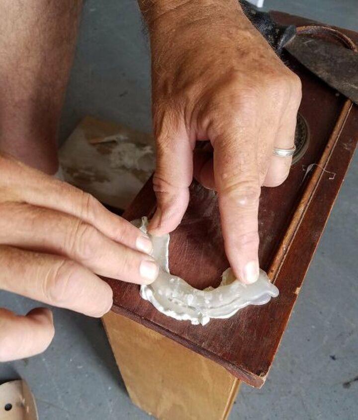 s furniture repair hacks that will make you go no way, Hot glue to repair the trim