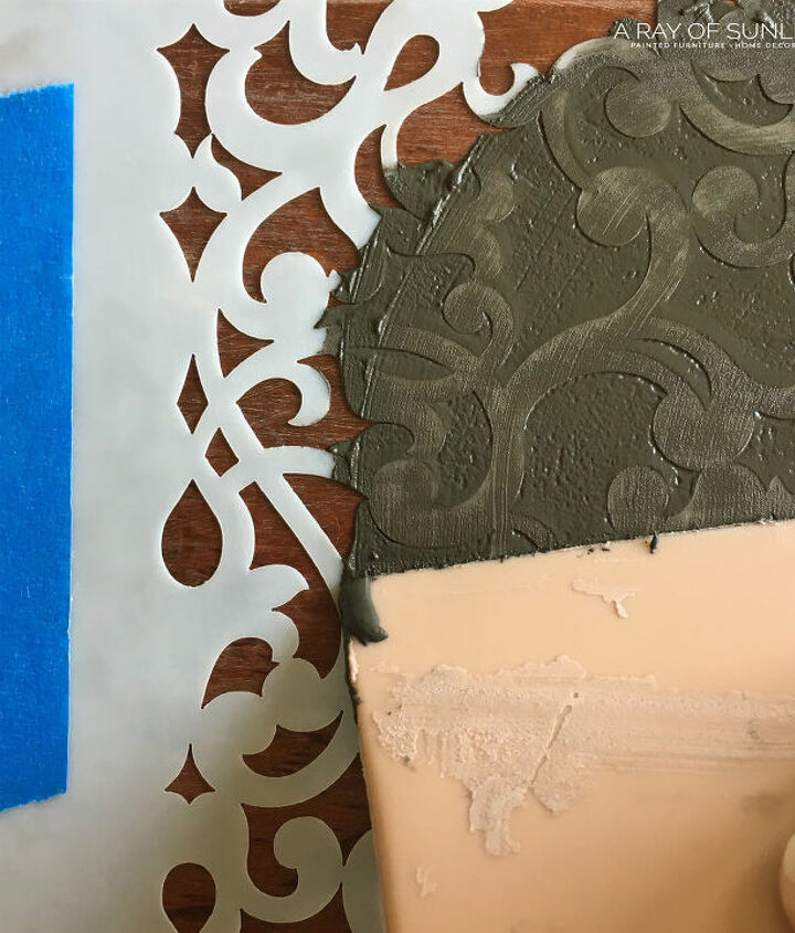 how to create raised texture on furniture