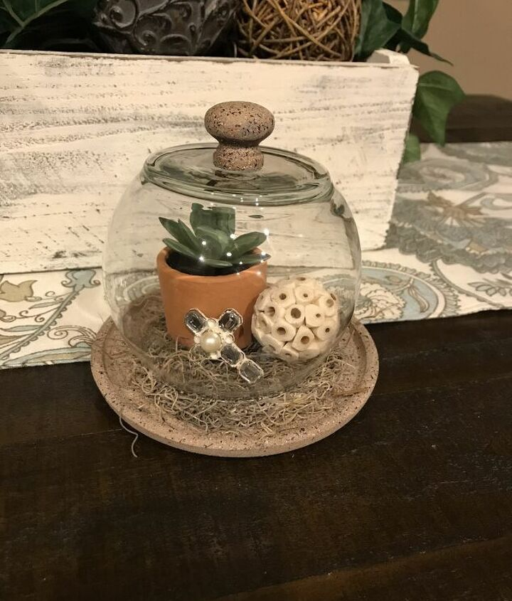 s diy decor using dollar items that you can make this weekend, Fish bowls make the perfect cloche