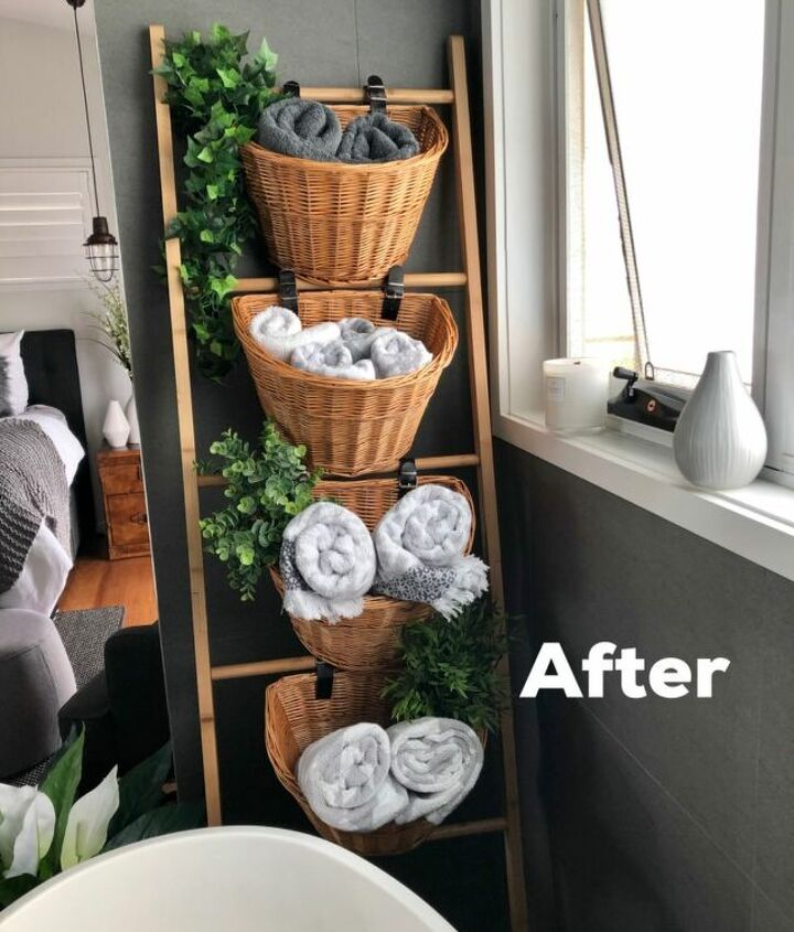 s diy decor using dollar items that you can make this weekend, Baskets make the perfect bathroom storage