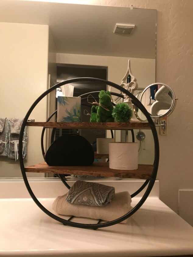 s diy decor using dollar items that you can make this weekend, Hula hoops make a trendy shelf