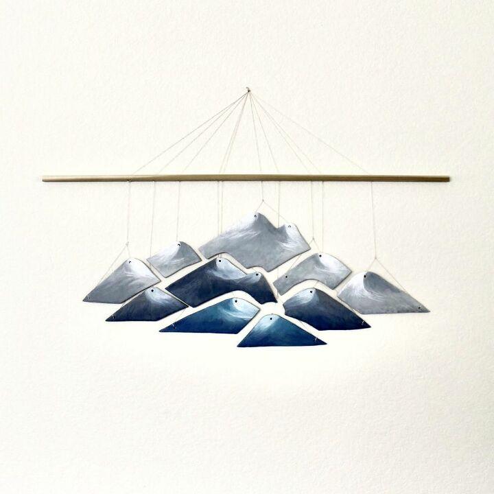 DIY Salt Dough Mountain Wall Hanging