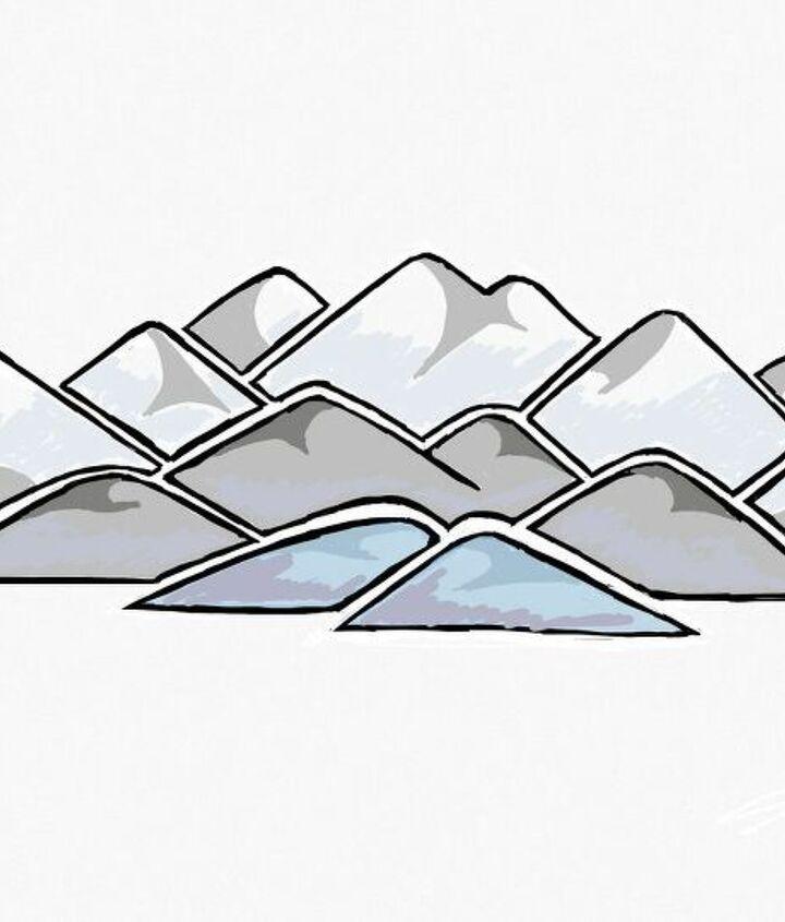 salt dough mountains