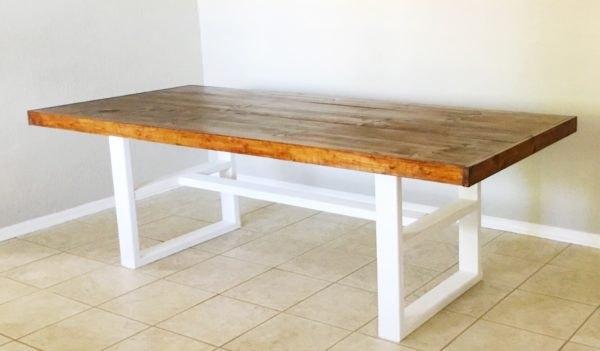 s farmhouse kitchen ideas, Pottery Barn Inspired DIY Farmhouse Kitchen Table