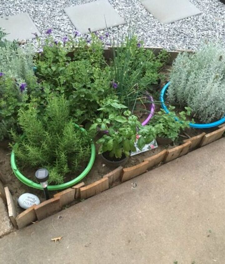 s just a bit of plywood can take your backyard to the next level, Make a pallet garden border