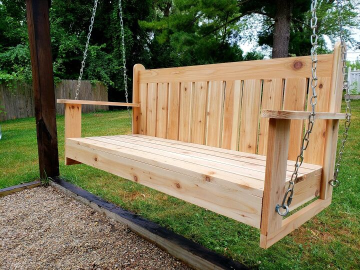 s just a bit of plywood can take your backyard to the next level, Make the perfect pergola swing