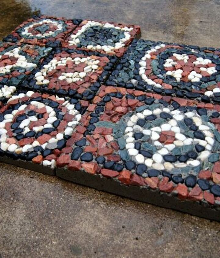 s creative ways to give your entrance a fresh look, Make your own mosaic pavers